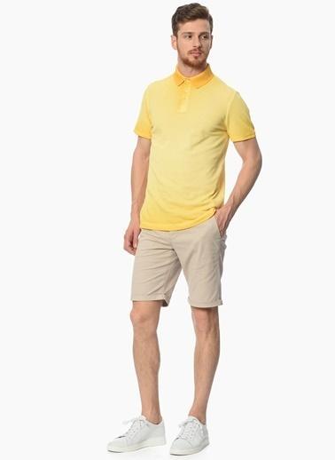Network Polo Yaka Tişört Sarı